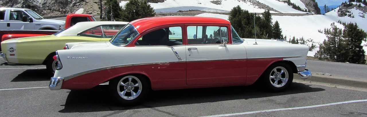 Vintage Cars Parked in Rockford, Illinois | Breast Cancer Car Donations