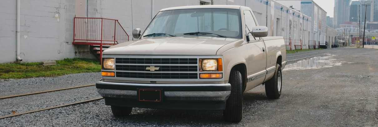 Parked Oldtimer Chevy Pick-up | Breast Cancer Car Donations