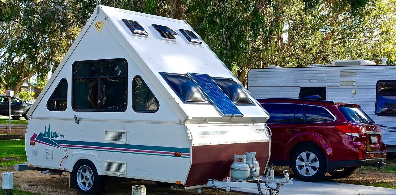 Parked Teardrop Camper | Breast Cancer Car Donations