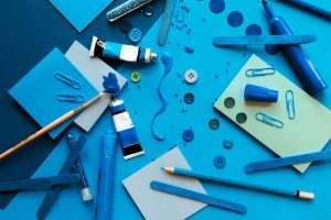Blue Colored Art Craft | Breast Cancer Car Donations