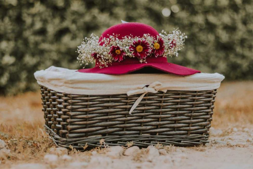 Basket and Hat for Picnic | Breast Cancer Car Donations
