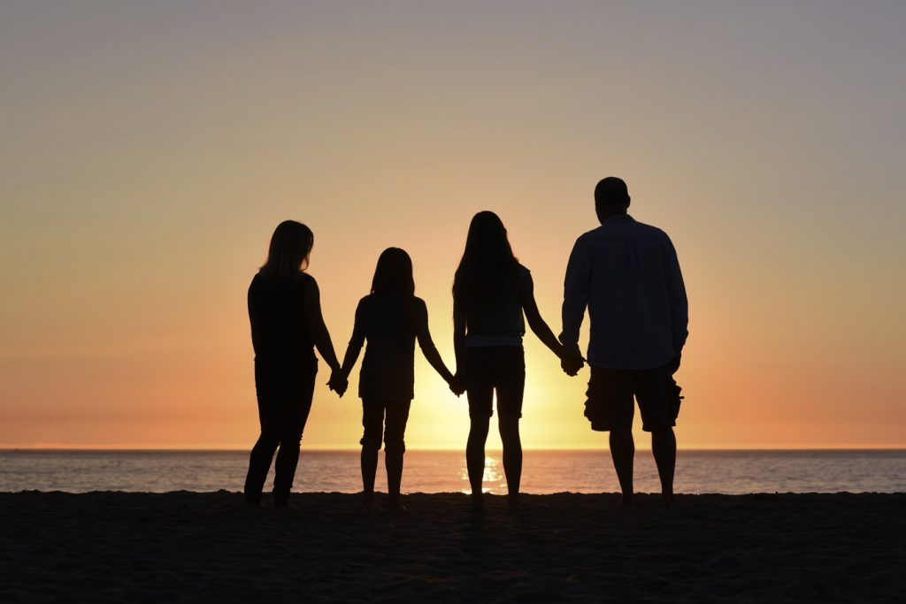 Family Looking at the Sunset | Breast Cancer Car Donations