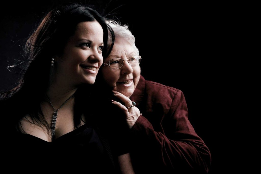 Mother and Daughter Portrait | Breast Cancer Car Donations