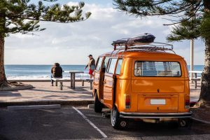 Orange Van in Summer | Breast Cancer Car Donations