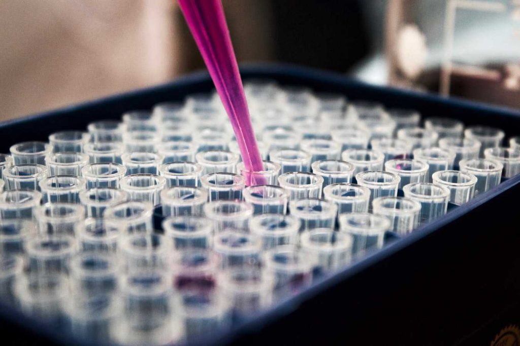 Purple Pipette in the Lab | Breast Cancer Car Donations