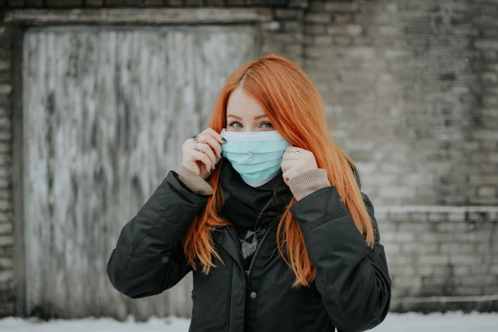 Woman Wearing Surgical Mask | Breast Cancer Car Donations