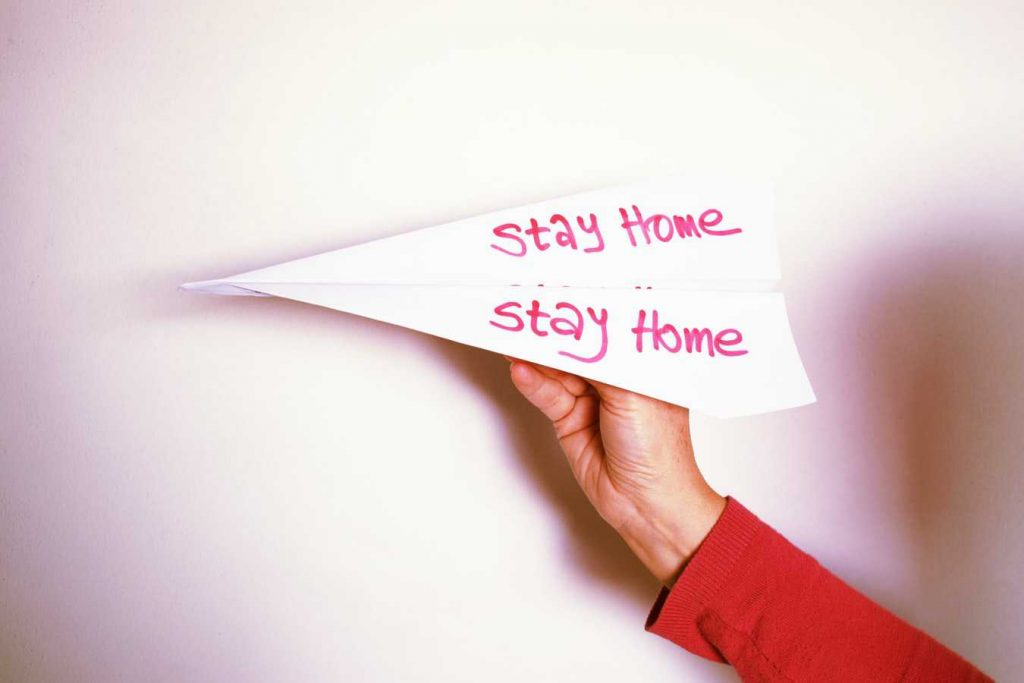 Stay Home Message in a Paper-plane | Breast Cancer Car Donations
