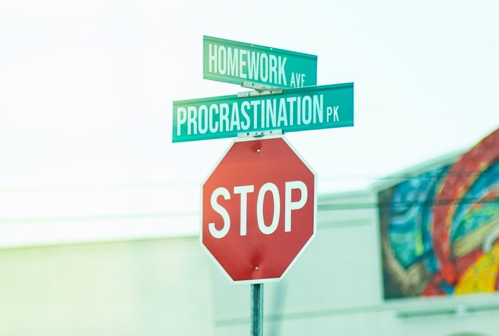 Procrastination Sign | Breast Cancer Car Donations