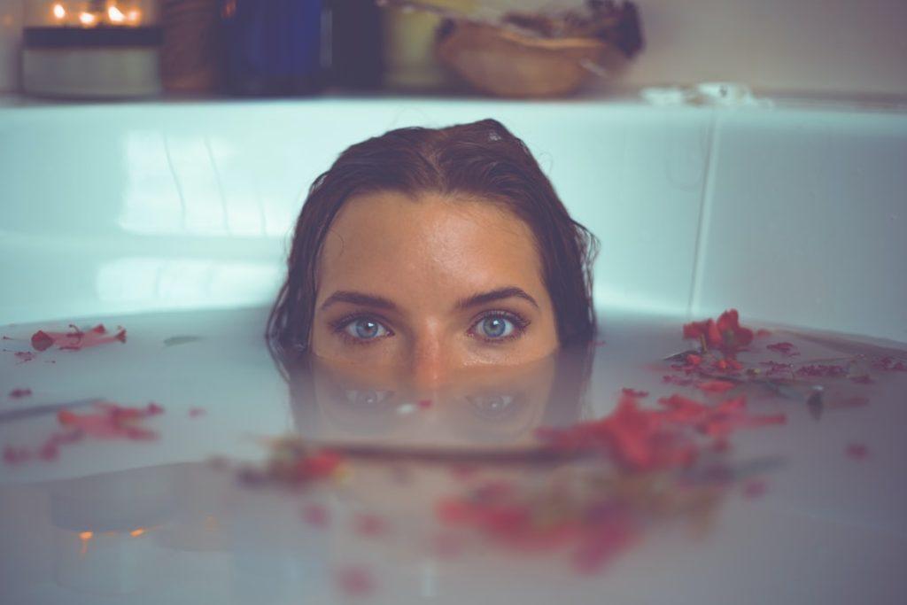 Woman on a Milk Bath | Breast Cancer Car Donations