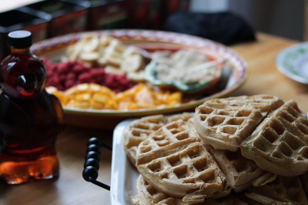 Freshly Baked Waffles on a Table | Breast Cancer Car Donations