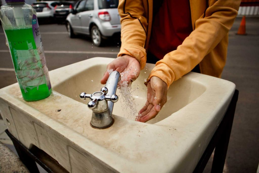 Hand Washing in Public | Breast Cancer Car Donations