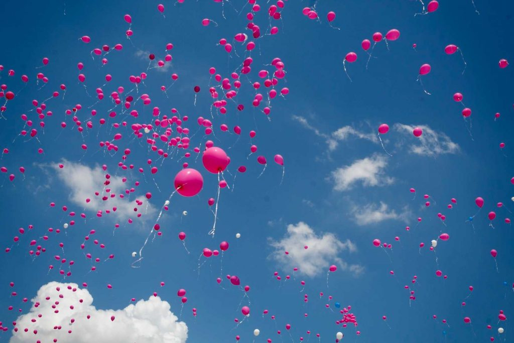 Pink Balloons for Breast Cancer Awareness | Breast Cancer Car Donations
