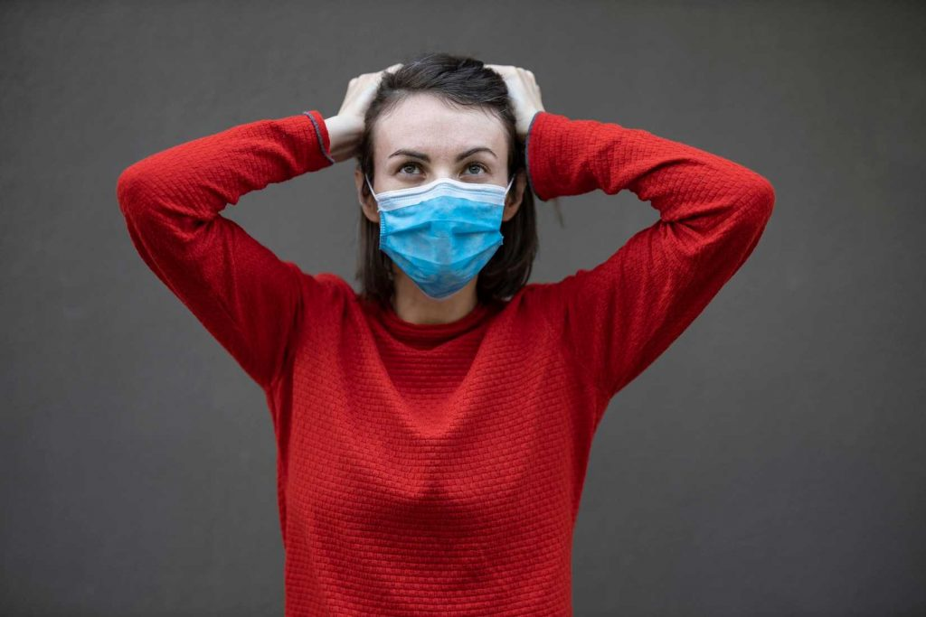 Woman Stressed During Quarantine | Breast Cancer Car Donations