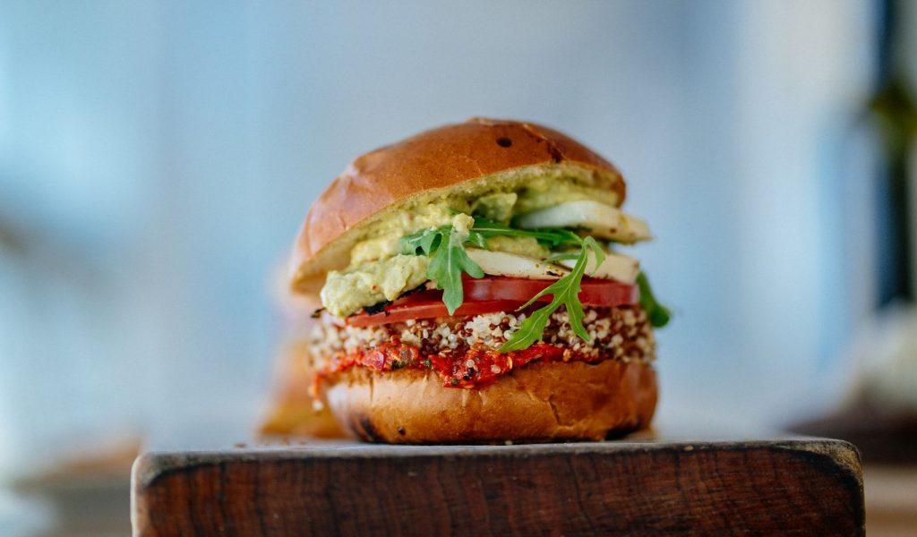 Vegetarian Burger | Breast Cancer Car Donations