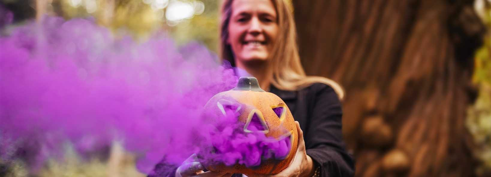 Smokey Pumpkin for Halloween   Breast Cancer Car Donations