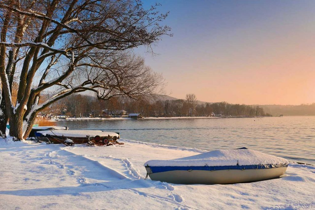 Boats Covered in Snow | Breast Cancer Car Donations