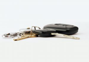 Brass-colored Keys With Fob | Breast Cancer Car Donations