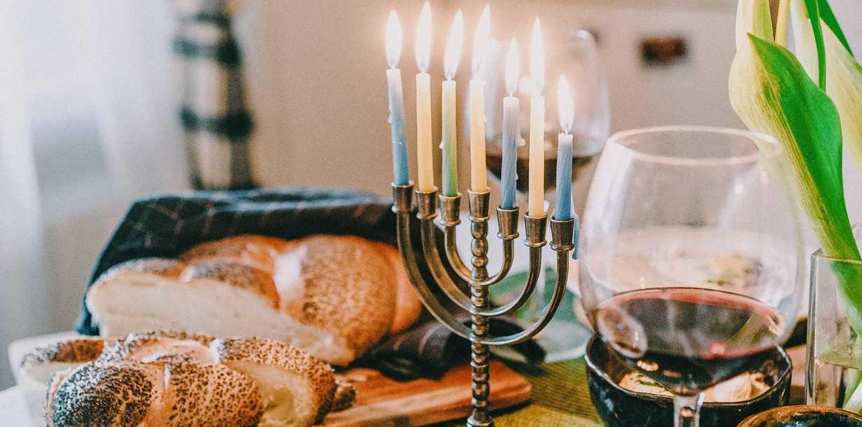 Hanukkah Meal on a Table   Breast Cancer Car Donations