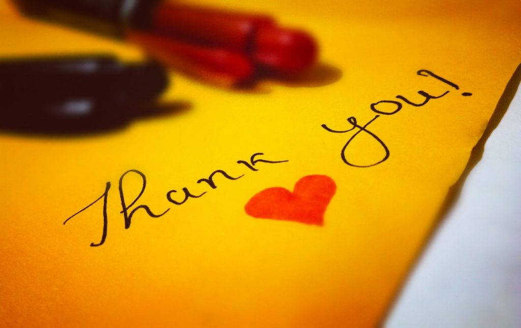 Thank You in a Notepad   Breast Cancer Car Donations