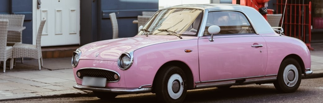 Driving Pink Colored Car | Breast Cancer Car Donations
