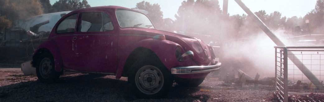 Parked Old Pink Car | Breast Cancer Car Donations