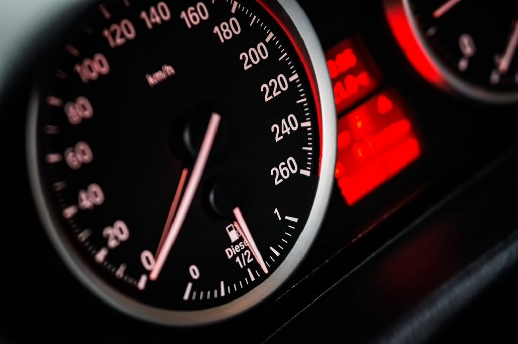 Speedometer Gauge Reading at Zero   Breast Cancer Car Donations