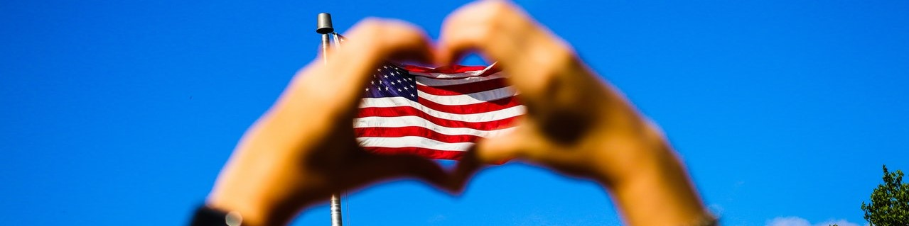 Heart Symbol and the US Flag | Breast Cancer Car Donations