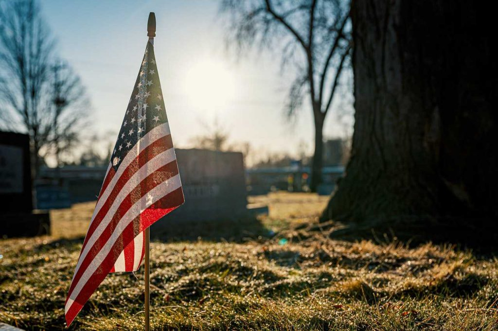 The US Flag on Memorial Day | Breast Cancer Car Donations