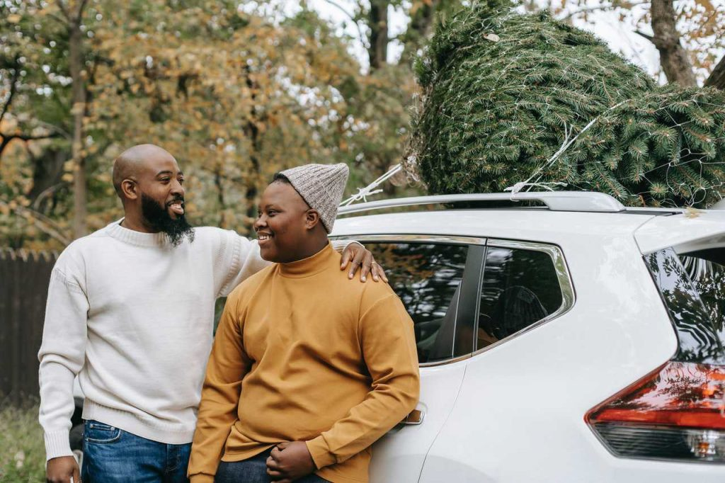 Dad and Son with White Car   Breast Cancer Car Donations