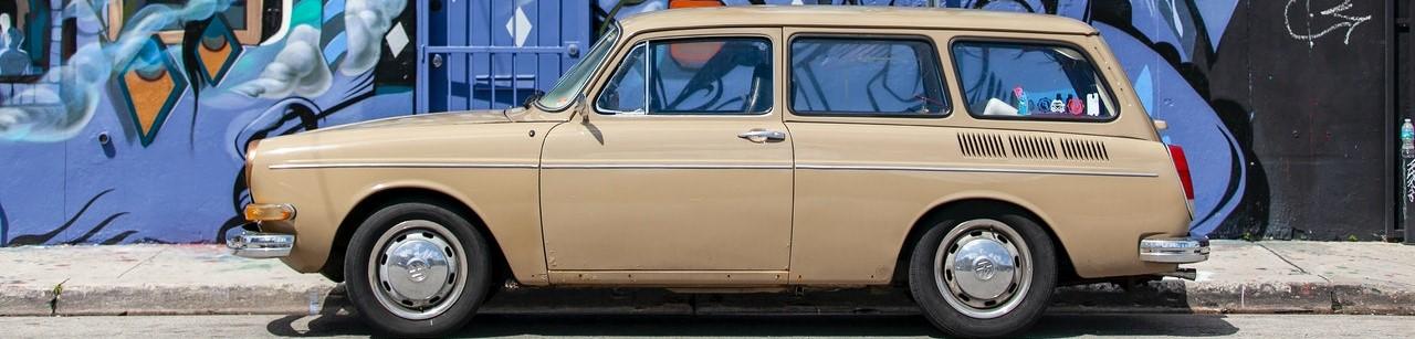 Oldtimer Beige Car | Breast Cancer Car Donations