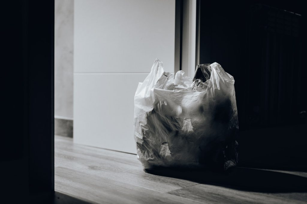 Plastic Bag with Garbage Inside | Breast Cancer Car Donations