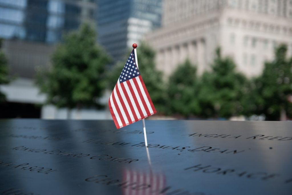 American Flag on 911 Memorial | Breast Cancer Car Donations
