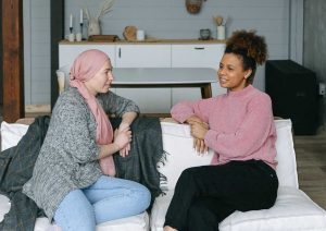Women Having a Chat | Breast Cancer Car Donations